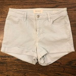 PacSun White and Blue Striped Shorts